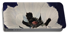 White Poppy-posthumously Presented Paintings Of Sachi Spohn  Portable Battery Charger