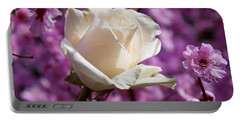 White Rose And Plum Blossoms Portable Battery Charger