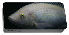 White Tilapia With Yellow Eyes Portable Battery Charger