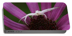 Whitebanded Crab Spider On Tennessee Coneflower Portable Battery Charger