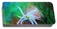 Portable Battery Charger featuring the painting Wild Daisy 2 by Kume Bryant