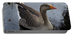 Wild Greylag Goose Portable Battery Charger by Lynn Palmer