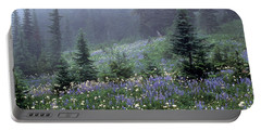Wildflower Meadow Mt Rainier Portable Battery Charger