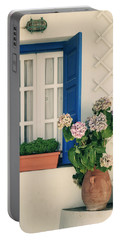 Window With Flowers Portable Battery Charger