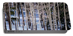 Portable Battery Charger featuring the photograph Winter Aspens by Colleen Coccia