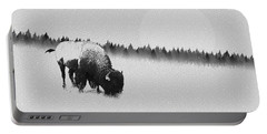 Winter Graze Portable Battery Charger by Ron Jones