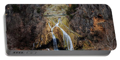 Winter Time At The Falls Portable Battery Charger by Doug Long
