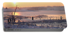 Portable Battery Charger featuring the photograph Winter's Morning by Elizabeth Winter