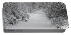 Portable Battery Charger featuring the photograph Winter's Trail by Elizabeth Winter