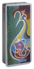 Portable Battery Charger featuring the painting Wisdom And Peace by Sonali Gangane
