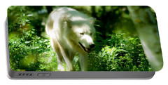 Wolf In The Forest Portable Battery Charger