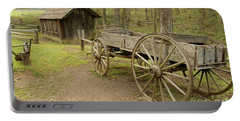 Wooden Wagon Portable Battery Charger by Cindy Manero
