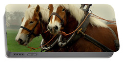 Work Horses Portable Battery Charger by Lainie Wrightson