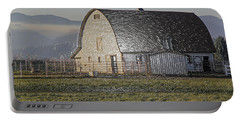 Wrapped Barn Portable Battery Charger by Mick Anderson