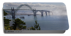 Yaquina Bay Bridge Portable Battery Charger by Mick Anderson