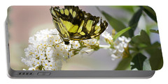 Yellow Butterfly Beauty Portable Battery Charger by Andrea Hazel Ihlefeld