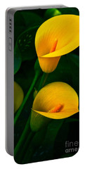 Yellow Calla Lilies Portable Battery Charger by Byron Varvarigos