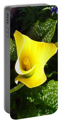 Portable Battery Charger featuring the photograph Yellow Calla Lily by Carla Parris