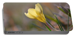 Yellow Crocus Portable Battery Charger