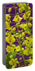 Yellow Flower Portable Battery Charger by Manuela Constantin