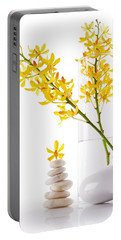 Yellow Orchid Bunchs Portable Battery Charger