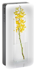 Yellow Orchid In Vase Portable Battery Charger by Atiketta Sangasaeng