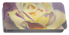 Yellow Rose-1-posthumously Presented Paintings Of Sachi Spohn  Portable Battery Charger
