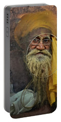 Yellow Turban At The Window Portable Battery Charger