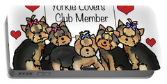 Yorkie Lovers Club Member Portable Battery Charger