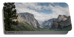 Yosemite Valley From Tunnel View At Yosemite Np Portable Battery Charger