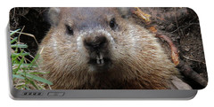 You Would Have A Dirty Face Too If You Lived Underground Portable Battery Charger by Doris Potter