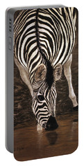 Portable Battery Charger featuring the painting Zebra by Karen Zuk Rosenblatt