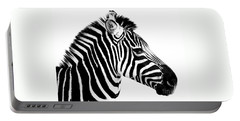 Portable Battery Charger featuring the photograph Zebra by Rebecca Margraf