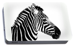 Zebra Portable Battery Charger by Rebecca Margraf
