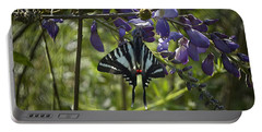 Zebra Swallowtail Butterfly 2 Portable Battery Charger