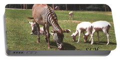 Zebra's Grazing Portable Battery Charger