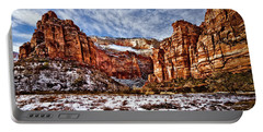 Zion Canyon In Utah Portable Battery Charger