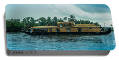 A House Boat Around The Backwaters In Alleppey, Kerala, India Portable Battery Charger