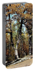 Autumn In Forest Portable Battery Charger by Henryk Gorecki
