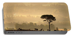 Portable Battery Charger featuring the photograph  Autumn Morning, Strathglass by Gavin Macrae
