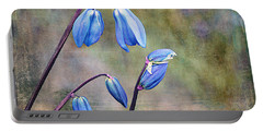Bluebells And Beyond Portable Battery Charger by Nina Silver