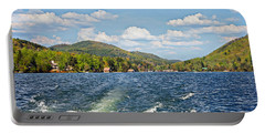 Portable Battery Charger featuring the photograph  Boat Ride Digital Art by Susan Leggett