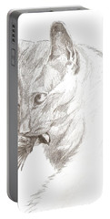 Cat And Chickadee Portable Battery Charger