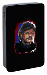 Portable Battery Charger featuring the painting  Charles by Andrzej Szczerski