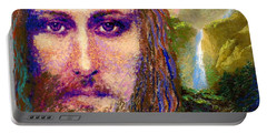 Contemporary Jesus Painting, Chalice Of Life Portable Battery Charger