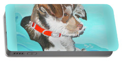 Portable Battery Charger featuring the painting  Cute Little Puppy by Phyllis Kaltenbach