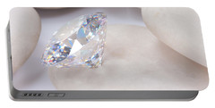 Diamond On White Stone Portable Battery Charger