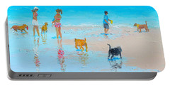 Dog Beach Day Portable Battery Charger