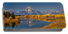 Fall Colors At Oxbow Bend In Grand Teton National Park Portable Battery Charger
