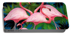 Flamingo Portable Battery Charger by Mark Ashkenazi